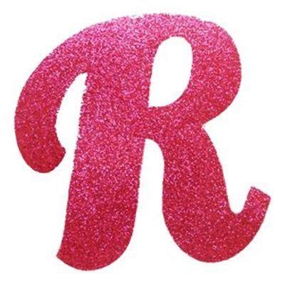 letra cursiva em gliter r pink alfabeto de letra 23