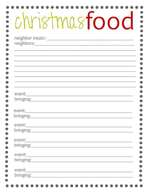 christmas sign up sheet lovely snippets organize your free printables