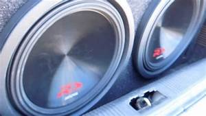 Insane Bass From Two 12 U0026quot  Alpine Type R  Swr12d4  Subwoofers