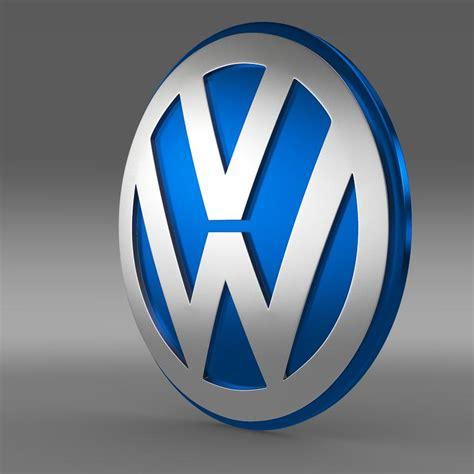 Logo 3d by 3d Volkswagen Logo Cgtrader