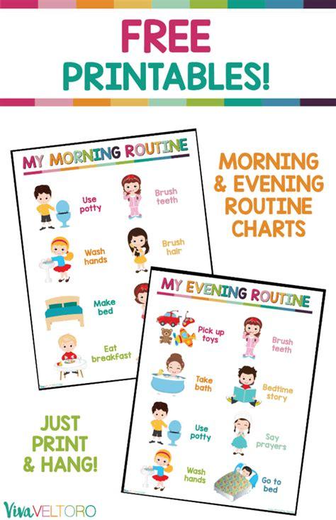 daily routine chart free printable viva veltoro 177 | PRINTABLE ROUTINE CHARTS KIDS