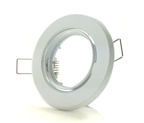 Led Curtain Light by White Gu10 Downlight Fitting With Adjustable Tilt