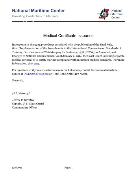 stcw medical certificate announcement professional