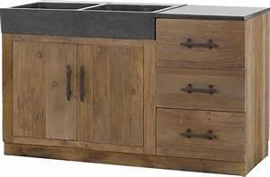 cuisine meuble de cuisine en bois massif conception de With meuble de cuisine en bois pas cher