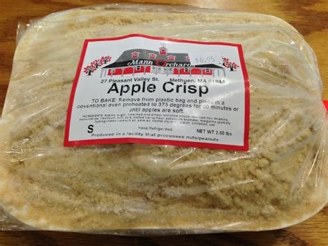 manns orchard apple crisp  lb shaw farm