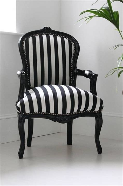 Black And White Striped Chair Modern Armchairs Accent