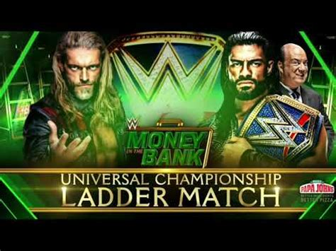 Rollins has reacted badly to this news on talking smack. WWE Money In The Bank 2021 Edge vs. Roman Reigns (Custom Match Card) HD - YouTube