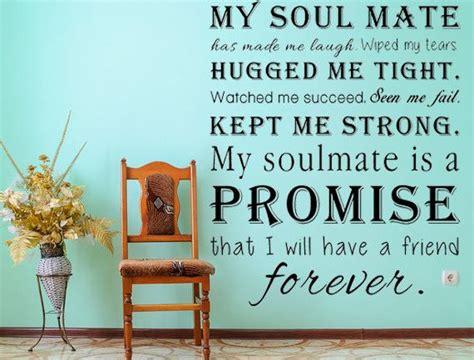 romantic sayings soul mates  vinyl wall decals