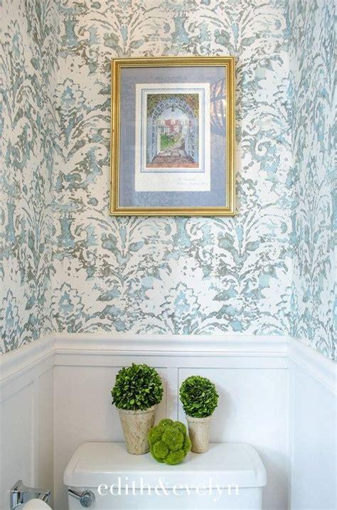 petite powder room transformation wallpaper powder
