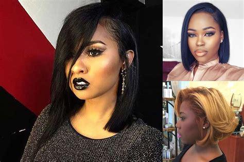 Short Bob Hairstyle For Black Women & Hair Color Ideas