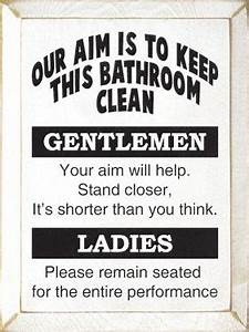 Amusing wall sign for a basement or man cave bathroom for Funny words for bathroom