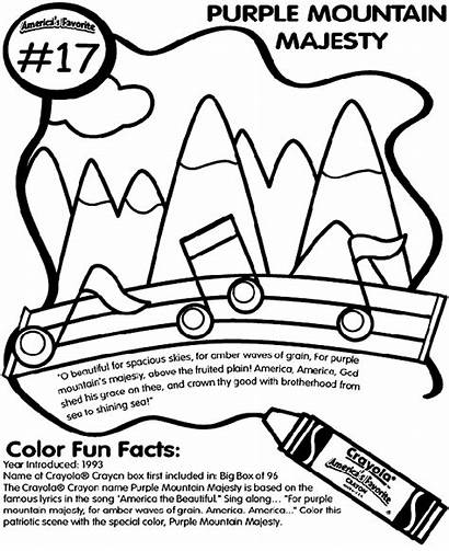 Coloring Purple Mountains Majesty Crayola Pages