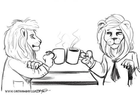 Cartoon Lions On Coffee Break Cartoon Coffee Latte Art Class Dunkin Delivery Da Nescafe Xpress And Beer Free Uconn Win Arabic Gahwa Box