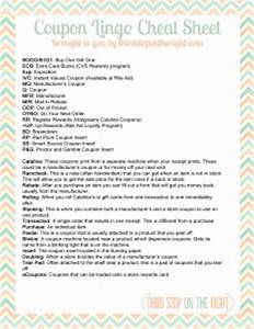 Download the Coupon Lingo Cheat Sheet Printable! Third