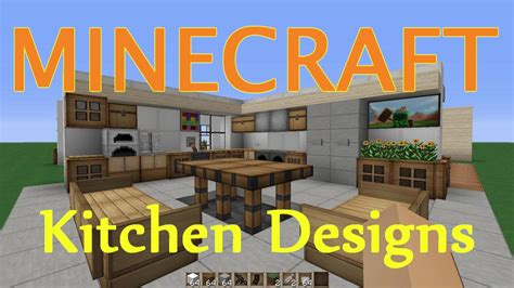 minecraft kitchen dining room design ideas youtube