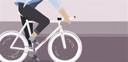 Bike Ride Movilidad Gifs Ciudades Animation Fiets