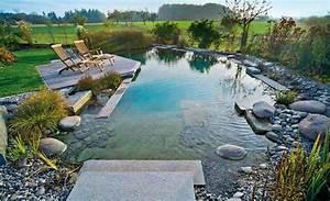 schwimmteich teich anlegen selbstde With französischer balkon mit schwimmbad im garten kosten