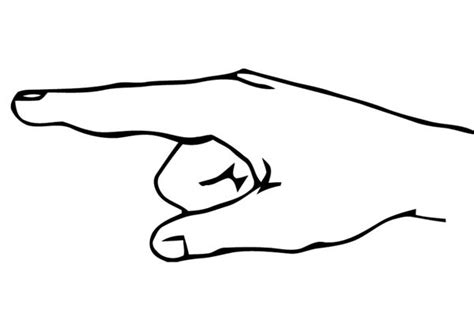 pointing finger hand coloring page coloring sky