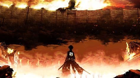 wallpaper attack  titan eren jaeger shingeki