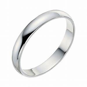 9ct white gold 3mm wedding ring ernest jones With images of white gold wedding rings