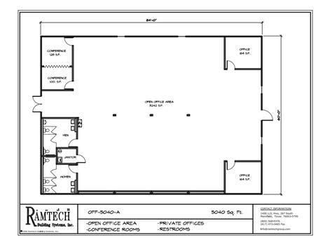 ramtech relocatable  permanent modular building floor plans