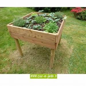 Carré Potager Haut : table potag re bois jardini re bac planter carr potager sur lev ~ Carolinahurricanesstore.com Idées de Décoration