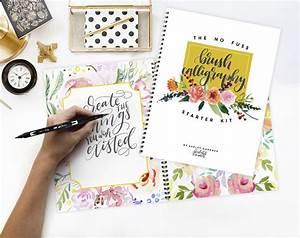 no fuss brush calligraphy starter kit printable wisdom With brush lettering beginner kit