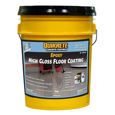 garage floor paint high gloss no qk07035 quikrete premium 2 part epoxy clear high gloss garage floor coating ebay