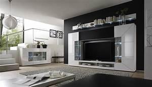 Wohnzimmer Wandgestaltung Braun Wohnwand Stylisch Modern