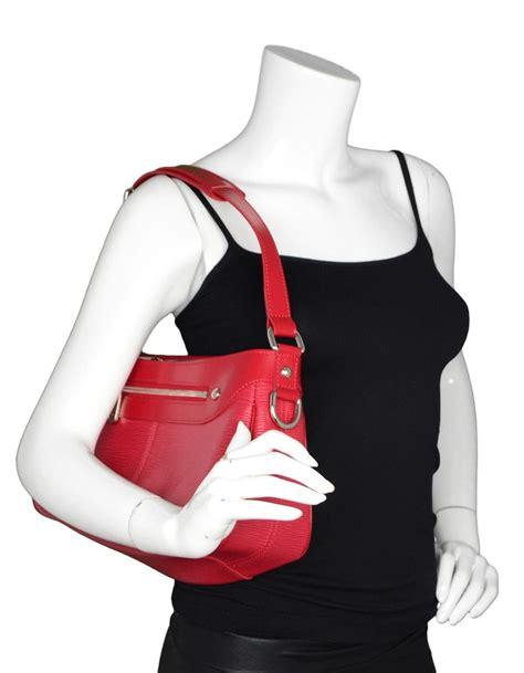 louis vuitton turenne pm nm red epi leather zipper front shoulder bag  sale  stdibs