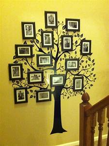 family tree wall decal and picture framessuper easy With awesome family tree wall decal with frames