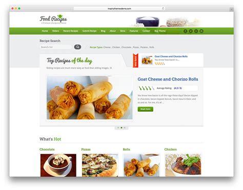 top ten wordpress themes  cooking food blog web