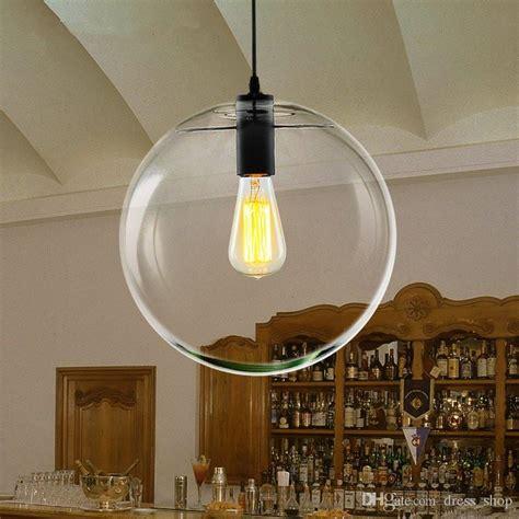 kitchen pendant lighting glass shades modern nordic lustre globe pendant lights glass l 8385