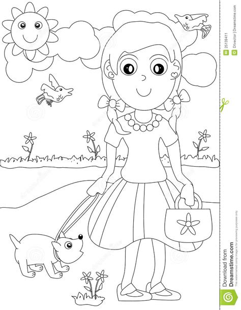 Outdoors - Free Colouring Pages