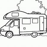 Camper Coloring Pages Colouring Camping Campers Drawing Motorhome Rv Truck Line Printable Caravan Campervan Cars Colour Drawings Caravans Voor Afbeeldingsresultaat sketch template
