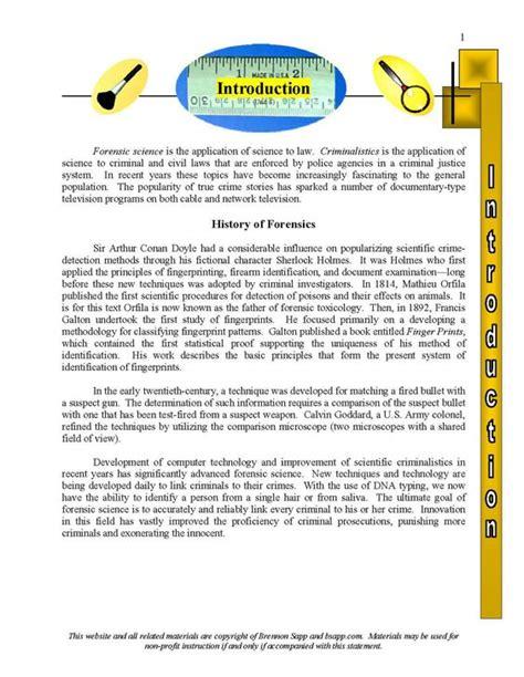 forensic science case studies worksheets