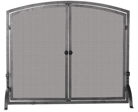 Uniflame Single Panel Fireplace Screen With Doors