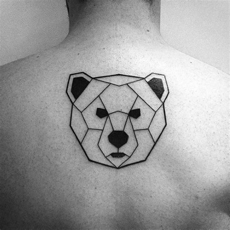 geometric bear tattoo designs  men manly ink ideas