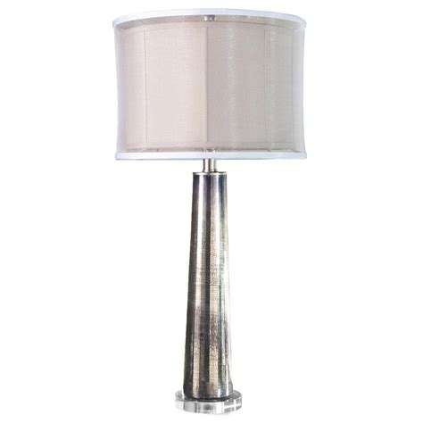 Silver Mercury Glass Contemporary Table Lamp  Kathy Kuo Home