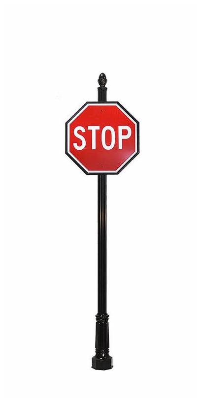 Sign Decorative Posts Street Example Stop 4a2