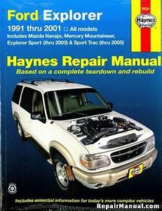 Ford Explorer Mazda Navajo And Mercury Mountaineer Automotive Repair Manual 1991