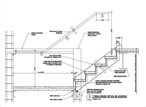 free cad details stair landing detail cad design free cad blocks drawings details arki