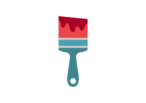 flat paint brush vector