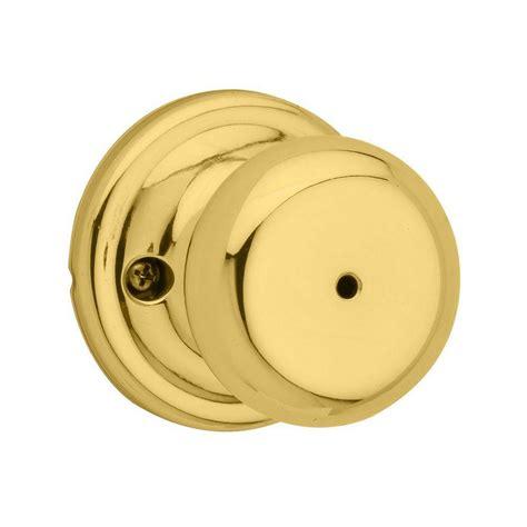 kwikset tylo polished brass bed bath knob 300t 3 6al rcs the home depot