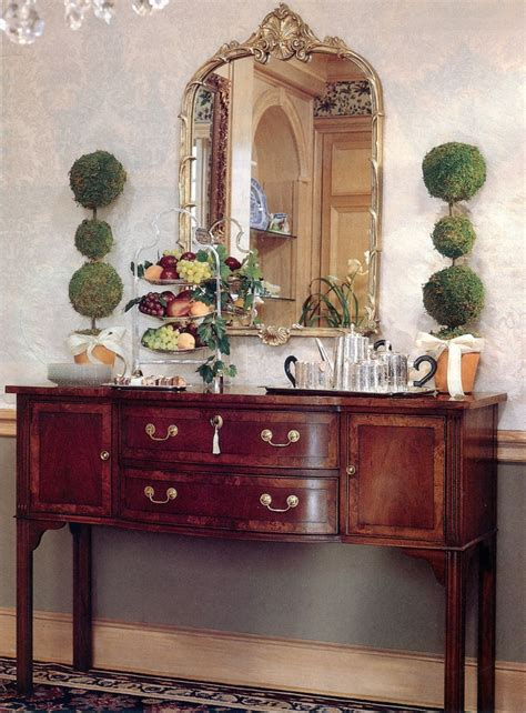 Sideboard Pictures by Hepplewhite Sideboard From Hekman And Two Topiaries For