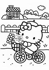 Coloring Pages Kitty Hello Lawn Bicycle Mower Colouring Spongebob Sheets Template Zero Turn Printable Pineapple Riding Print Cartoon Wuppsy Printables sketch template