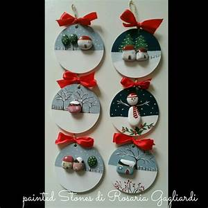 Christmas painting on stones and pebbles: 125 ideas for