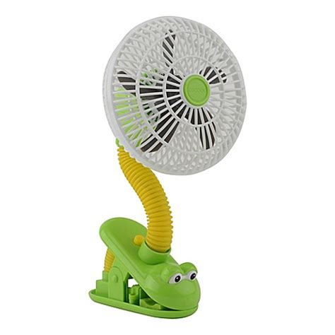 clip on fan for bed o2cool 4 inch portable stroller clip fan in green yellow