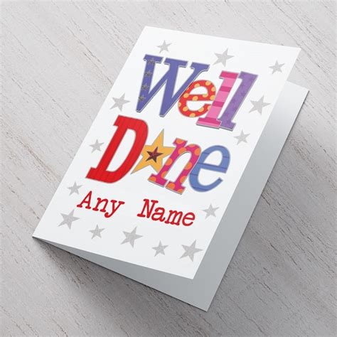 Personalised Card  Well Done Gettingpersonalcouk