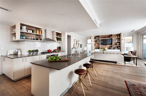 open kitchen dining and living room floor plans open floor plans a trend for modern living 9866